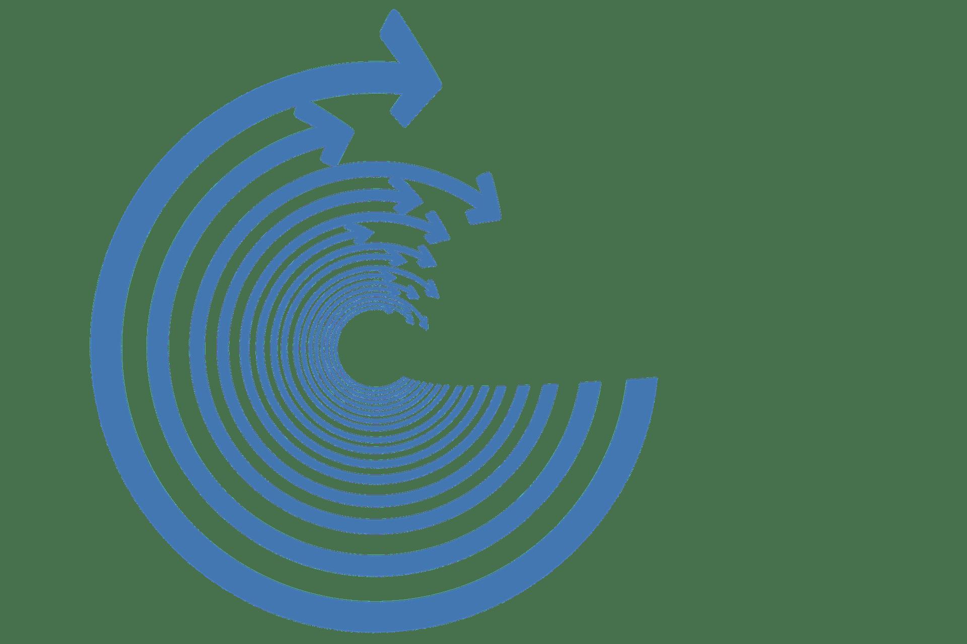 circulos concéntricos acercándose cada vez más al objetivo