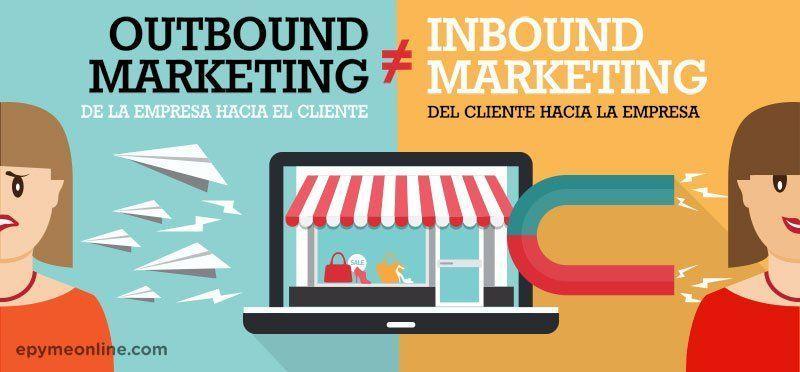 infografia del inbound marketing vs marketing tradicional